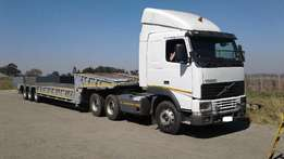 1997 Volvo FH12 - 420 with 1999 Tri Axle Lowbed Trailer for sale