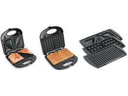 He-house 3 in 1 sandwich maker/toaster, waffle maker and grill