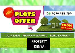 End Year Offer at Mananja Makuyu, Juja Farm, Ruiru & Ngoingwa Thika