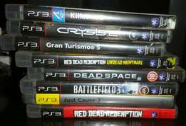 500 GB Playstation3, PS3 & PS4 games and two PS4 controllers for sale