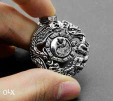 316L stainless steel chain and dragon pendant