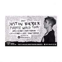 Justin Bieber Front Zone Standing Tickets and Lower Tier Seated ticket