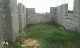 Two bedroom flat structure until lintel level