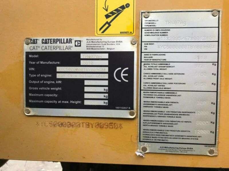 Caterpillar TH407C **BJ2010 *3470H *Telehandler** - 2010 - image 25