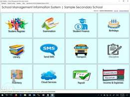 School system software with fees, payroll, exam, SMS, library from 50k