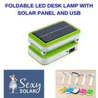 Foldable LED Desk Lamp - with SOLAR PANEL and USB