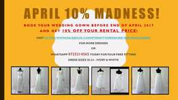 Wedding dresses April Discount