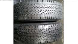 265/70 r16 x 2 General Grabber Tyres(60% tread) Johannesburg . call sm