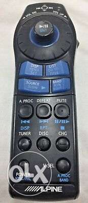 alpine car music system remote control for sale
