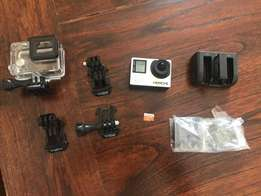 GoPro hero 4 hardly used in perfect condition for sale.