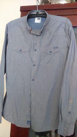 155616cac Koszula męska Cropp niebiesko-beżowa ,długi rękaw M-L Radom - image 1