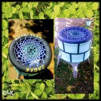 beutiful wishing well and poof