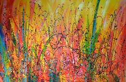 Abstract oil painting - Bousie