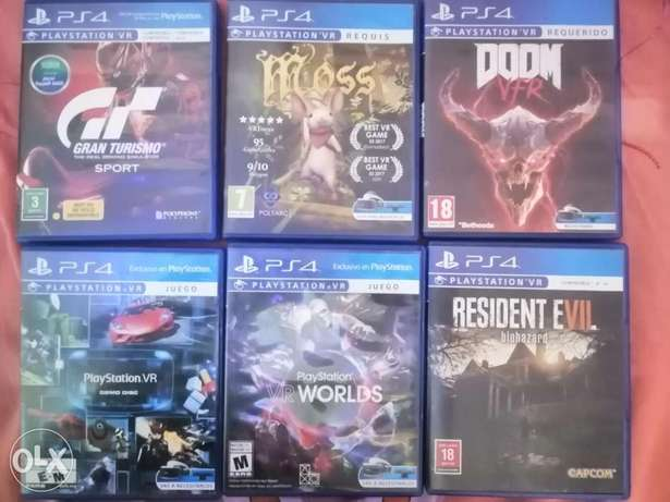 Cd ps4 vr and games