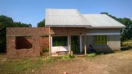 A plot for sale with a house in mpala 65 by 85 at 28m.