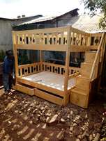 Wooden double decker bed