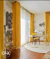Magnificent plain Yello Curtains