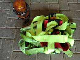 Safety harness and construction vechile light