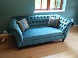 A custom made cheterfield 3 seater sofa