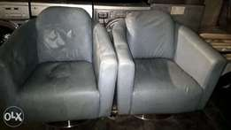 Blue/grey Swivel chairs