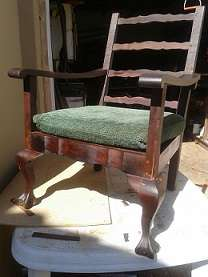 Two lovely Mahogany Ball & Claw Lounge Chairs Brakpan - image 1
