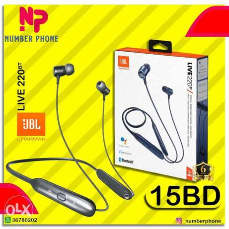 15BD ONLY JBL Live 220BT Wireless Neckband in-Ear Headphones, With the