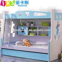 Turquoise/cream decker,with pullout storage and central book storage