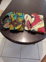 African sandles and clutches