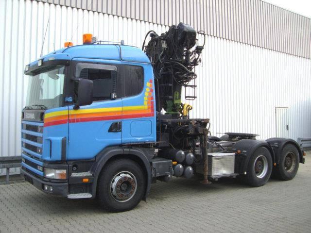 Scania 144G 530 6x4 144G 530 6x4 mit Kran Loglift F 215 Z - 1999