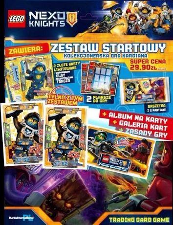 Nowoczesna architektura Lego Nexo Knights TCG Zestaw Startowy; karty limitowane album XT45