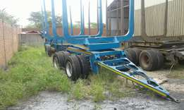 Drawbar Cargo light wood trailer