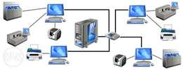 computer networks , office network installation and configuration