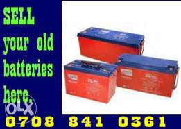We BUY condemned inverter Battery Lagos