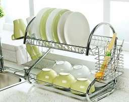 2 layer stainless dish drainer