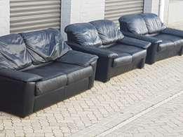 Full leather 7 seater lounge suite!