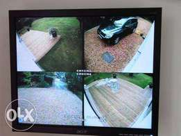 4 CCTV Cameras security cameras system Installation