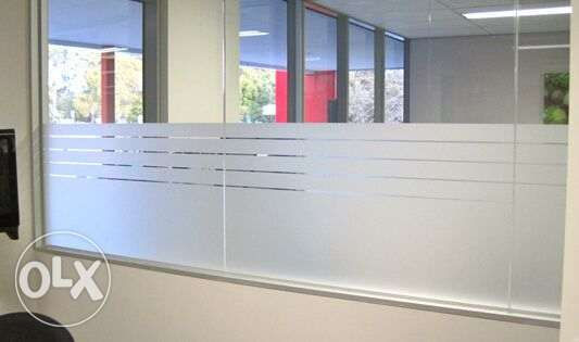 Frosted Glass Sticker and Office Sign Board