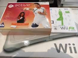 WII fit board plus Wii fit and active for sale R1500 for all