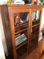 six oak chair table bookcase