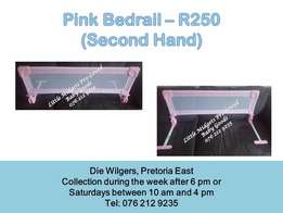 Pink bedrail - Please call after 5 pm during the week