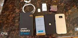 US USED Samsung Galaxy S7 edge SM-G935V 32GB Gold Platinum very clean
