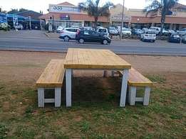 Picnics, patios and gardens wooden tables