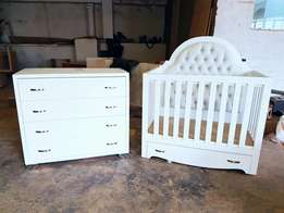 Baby cot and nursery furniture
