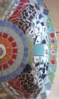 Mosaiced bath basin
