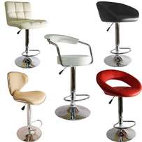 Bar chairs adjustable height chrome base Brand new