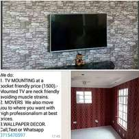 T.v mounting,decorating walls and moving