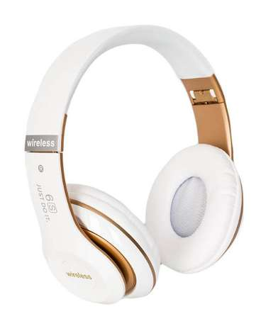 Big Daddy Bass 6S Wireless Bluetooth Headset - White & Rose Allsops - image 1