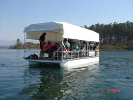 Fiberglass pontoon boat 6x3 on trailer