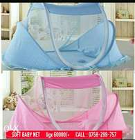 Soft baby net (blue and pink)