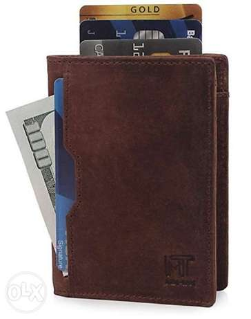 Wallet for Men Slim Genuine leather RFID Blocking Minimalist